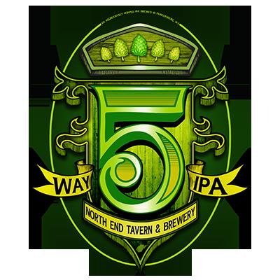 5 Way IPA label